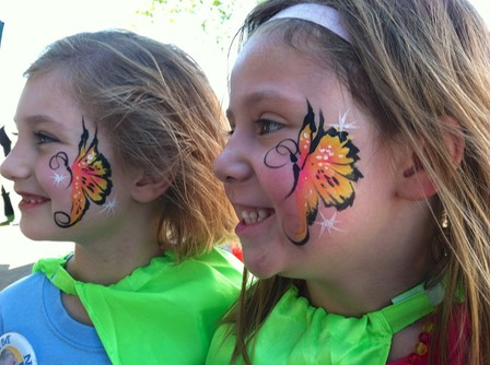 #butterfly #colorful #quick #easy #face #paint #corporate #events #snappyfacepainting
