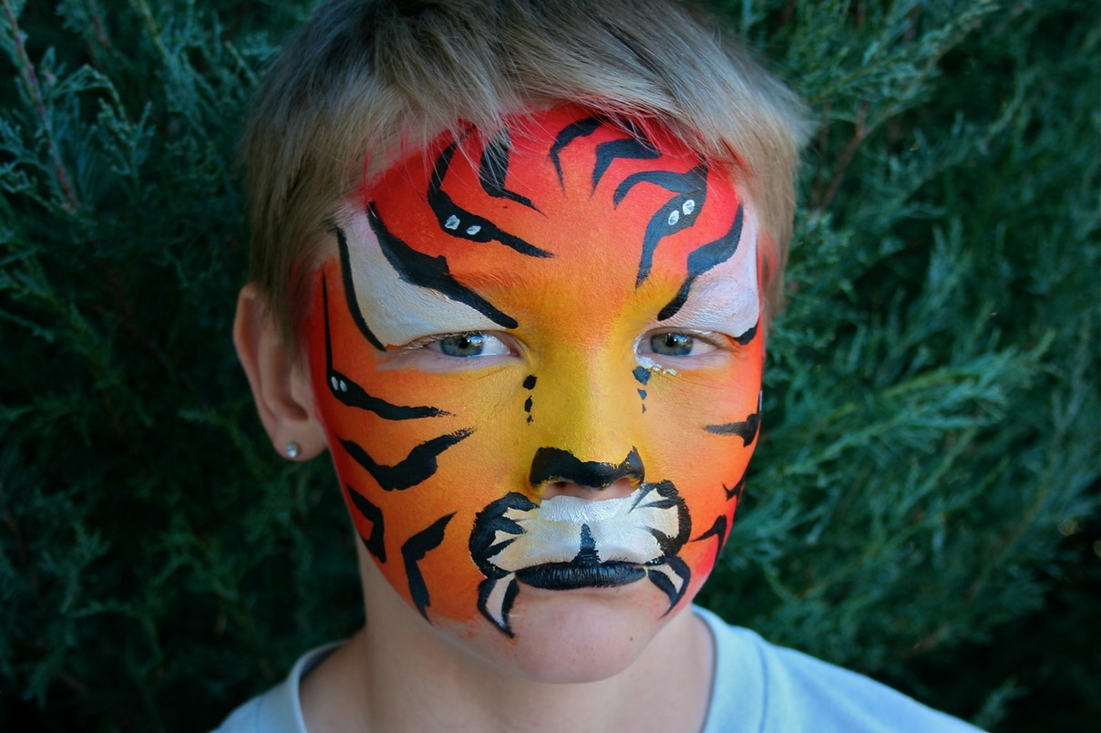 #tiger #colorfull #face #paint #birthday #party #children #entertainment #snappyfacepainting